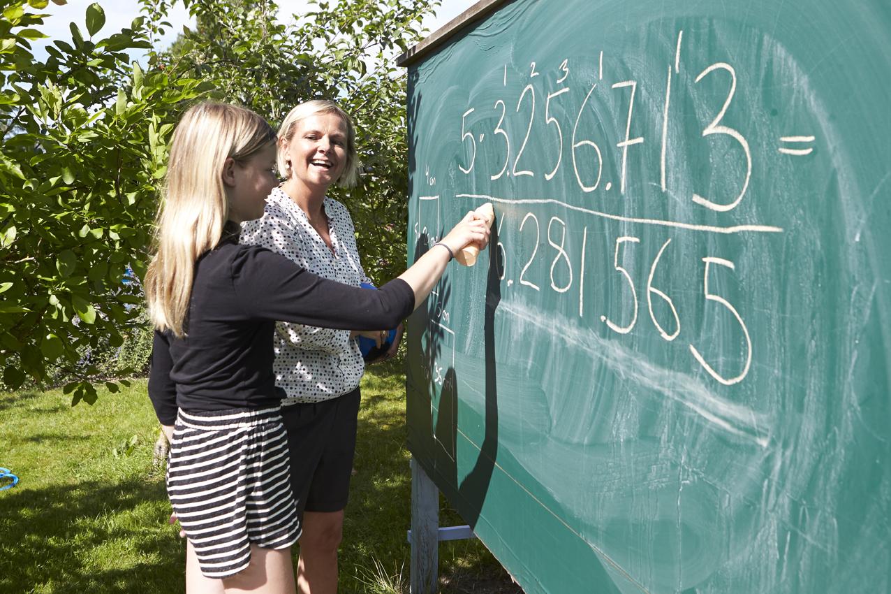 Undervisning udendørs i matematik