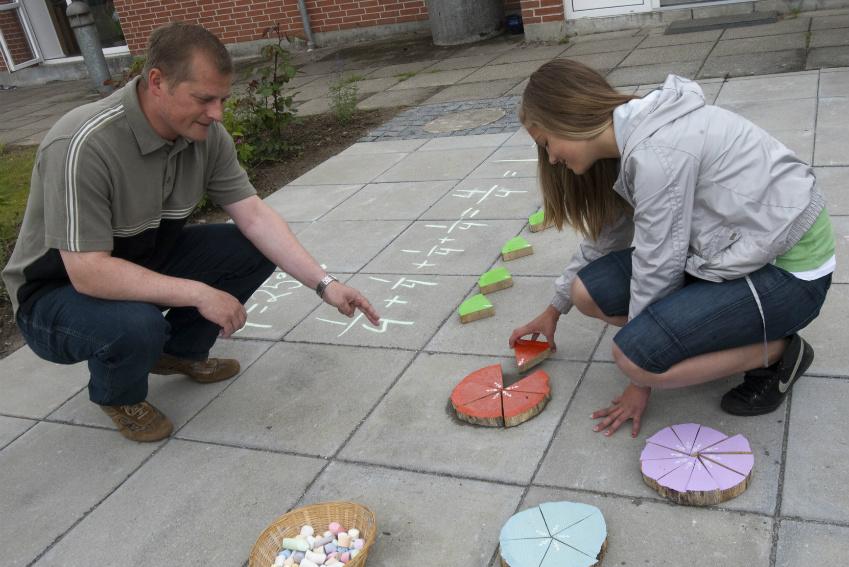 undervisning i matemaik udendørs